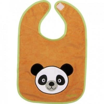 playshoes slabbetje panda oranje 26 x 33 cm 343465 1576221875