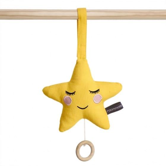 roommate muziekdoos ster 19 cm geel 345805 1576848736