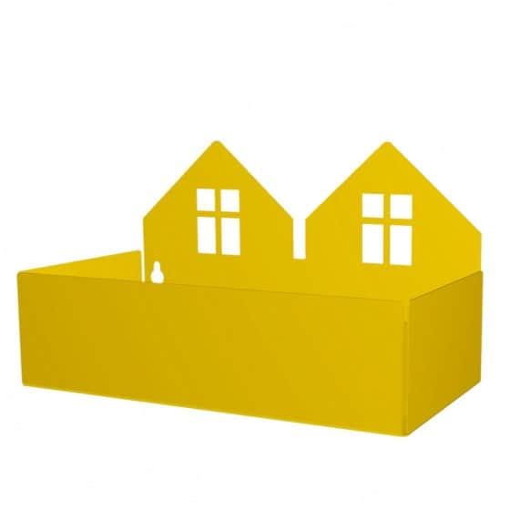 roommate opbergbakjes twin house 22cm geel 345912 1576913767