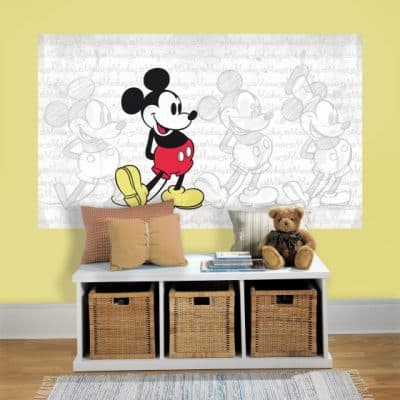 roommates muursticker mickey mouse vinyl 91 x 152 cm 2 345259 1576744493