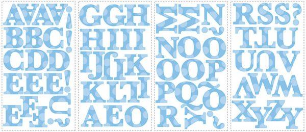 roommates muurstickers blauw alfabet vinyl 73 stuks 337332 1574342028