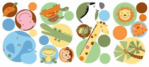 roommates muurstickers dierentuin stippen vinyl 24 stuks 337506 1574410934