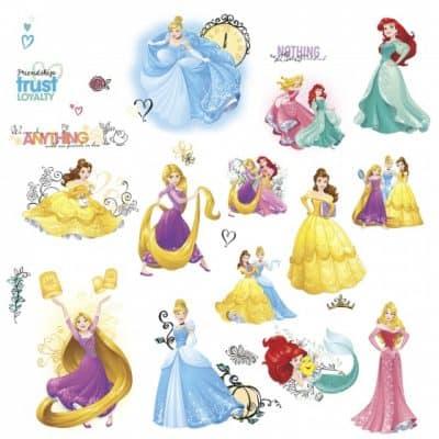 roommates muurstickers disney prinsessen vinyl 25 stuks 337535 1574413222
