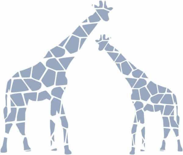 roommates muurstickers giraffen vinyl 9 stuks 340041 1575298938