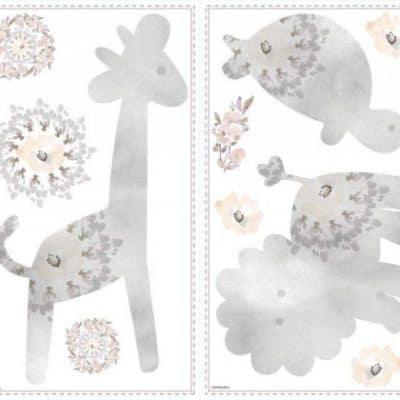 roommates muurstickers kathy davis baby animals vinyl 22 stuks grijs 337658 1574422004