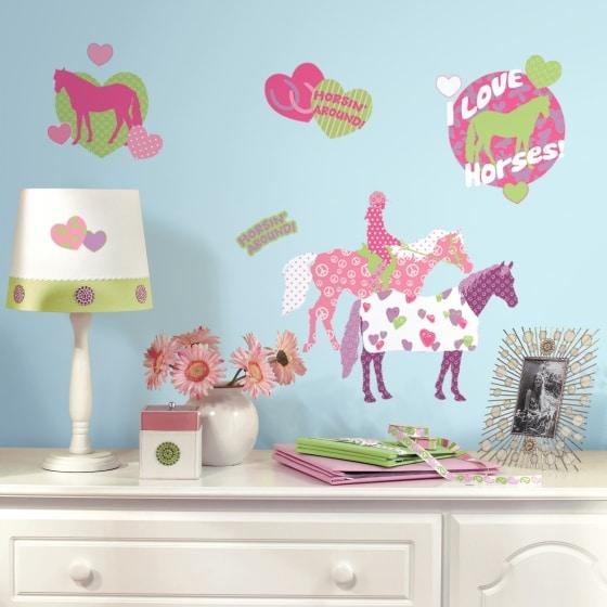 roommates muurstickers paarden meisjes vinyl 44 stuks 2 349385 1578308489