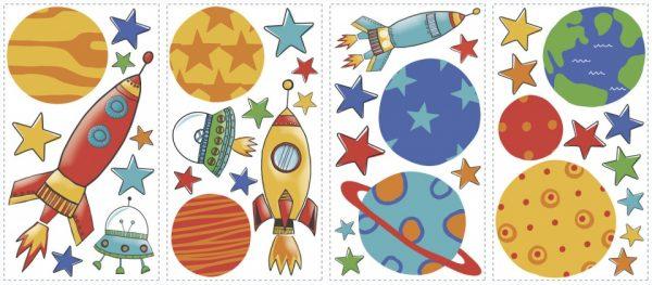 roommates muurstickers planeten en raketten vinyl 39 stuks 337558 1574415221