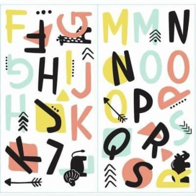 roommates muurstickers tribal alfabet vinyl 66 stuks 337663 1574422204