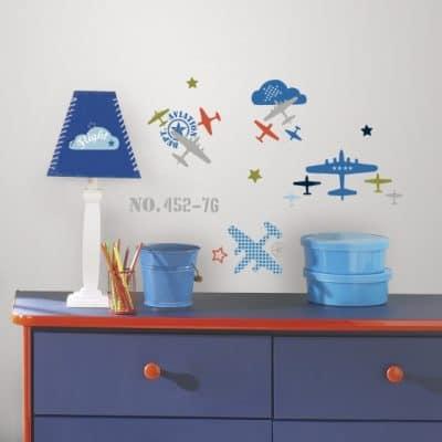roommates muurstickers vliegtuigen vinyl 21 stuks 2 337574 1574416082