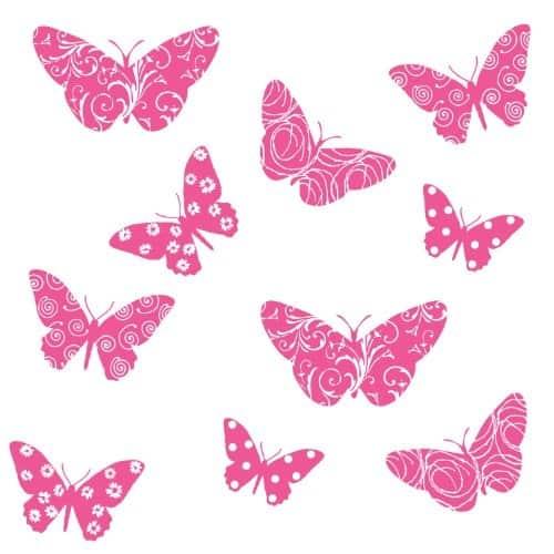 roommates muurstickers vlinders vinyl 10 stuks 344542 1576569564