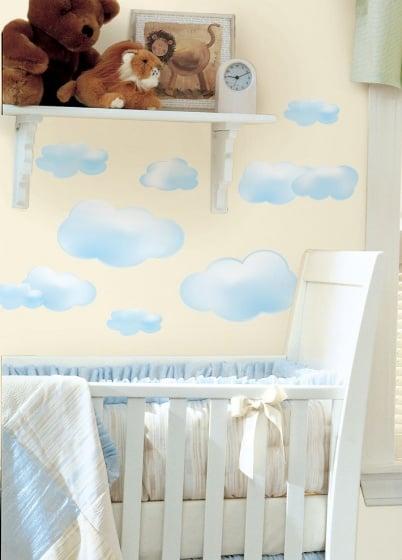 roommates muurstickers wolken vinyl 19 stuks 2 337323 1574341453