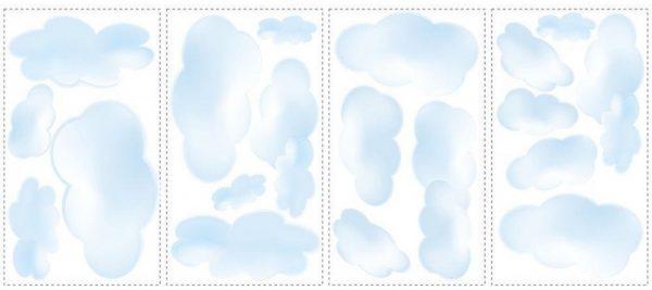 roommates muurstickers wolken vinyl 19 stuks 337323 1574341453