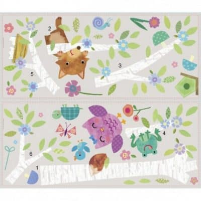 roommates muurstickers xl baby birch tree vinyl 27 stuks 360383 1580976099