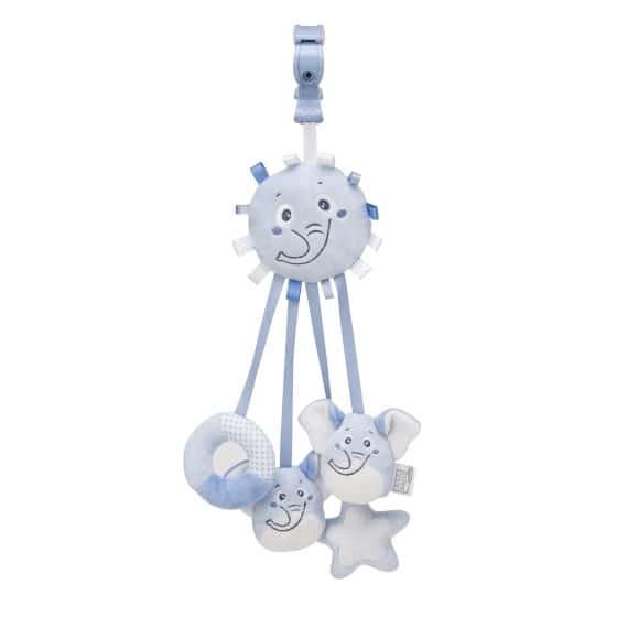 saro hangfiguur met linten en rammel olifant blauw 349587 1578325560