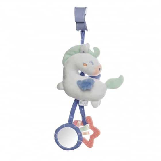 saro hangfiguur met rammelaar en trillen blauw paardje 350266 1578490420