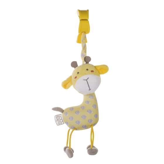 saro hangfiguur met rammelaar en trillen giraffe geel 350070 1578473919