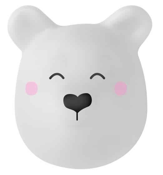 saro nachtlampje beer zelfklevend 10 cm wit 346862 1577449840