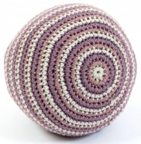 smallstuff bal gebreid met rammelaar 14 cm roze 346081 1576934805