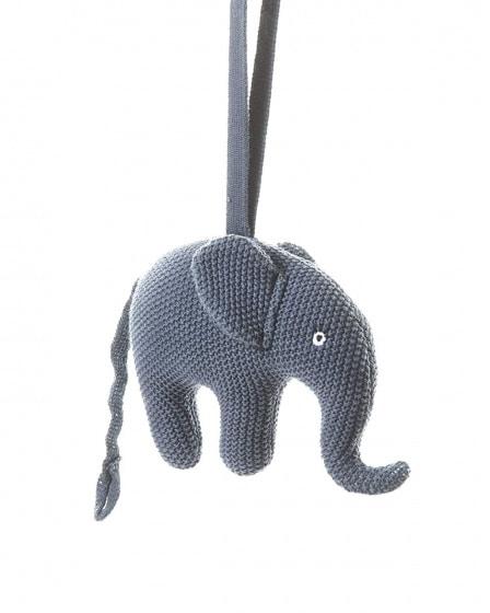smallstuff muziekmobiel gebreid olifant 16 cm blauw 346055 1576931965