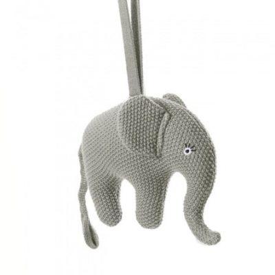 smallstuff muziekmobiel gebreid olifant 16 cm grijs 346051 1576931782