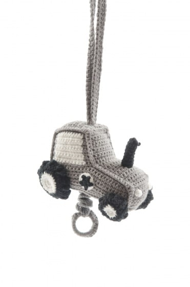 smallstuff muziekmobiel gebreid tractor 16 cm grijs 346057 1576932149