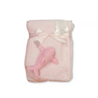 snuggle baby babydeken dolfijn 75 x 100 cm roze 366072 1582901902