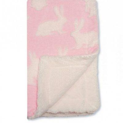 snuggle baby babydeken konijn 75 x 100 cm roze wit 366007 1582893444