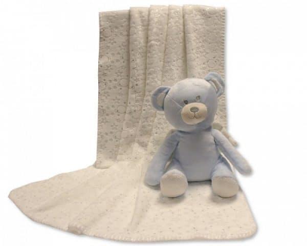 snuggle baby babydeken met knuffel beer 26 cm creme lichtblauw set 2 delig 348659 1578037911