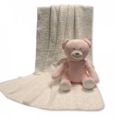snuggle baby babydeken met knuffel beer 26 cm creme roze set 2 delig 348656 1578037805