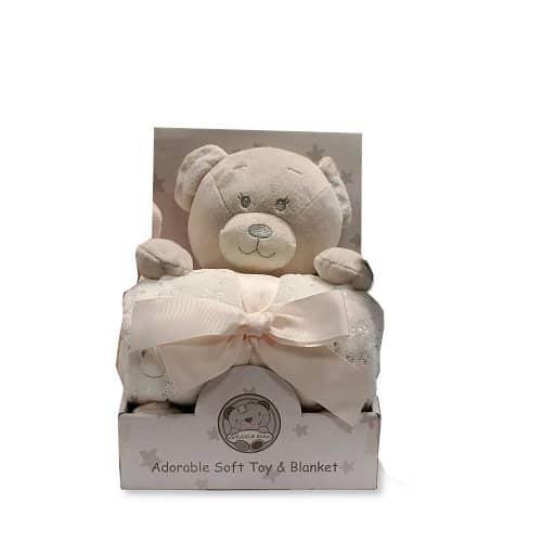 snuggle baby babydeken met knuffel beer 26 cm creme set 2 delig 2 348652 1578037600