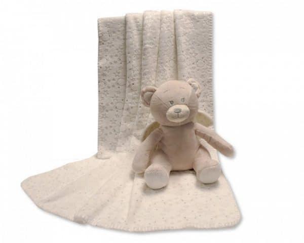 snuggle baby babydeken met knuffel beer 26 cm creme set 2 delig 348652 1578037600
