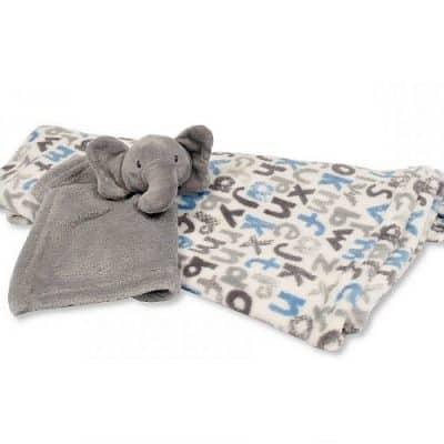 snuggle baby babydeken met olifant knuffeldoekje grijs wit set 2 delig 348479 20200102144458