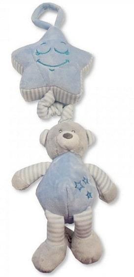 snuggle baby muziekmobiel beer 35 cm grijs blauw 348607 1578034134