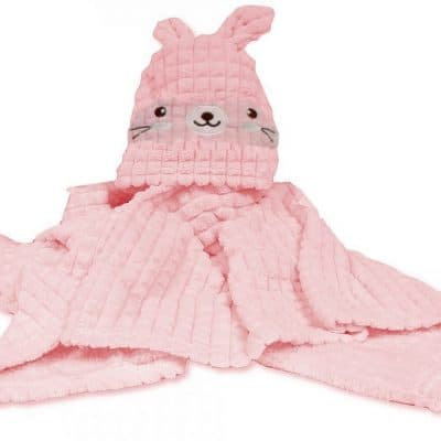 snuggle baby wikkeldeken rabbit 75 x 100 cm roze 348371 1577962884