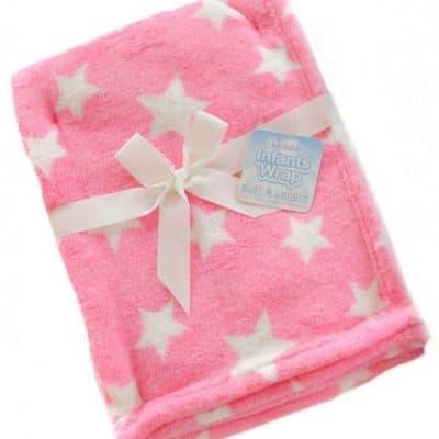 soft touch babydeken sterren fleece 75 x 100 cm roze 337295 1574338524