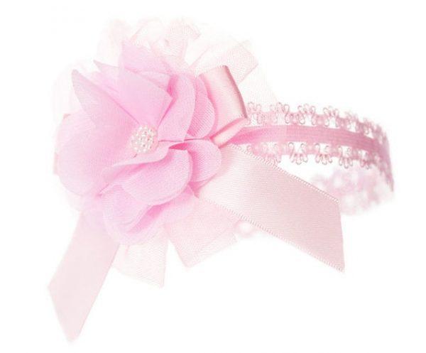 soft touch hoofdband smal baby bloem 0 12 maanden roze 337596 1574417304