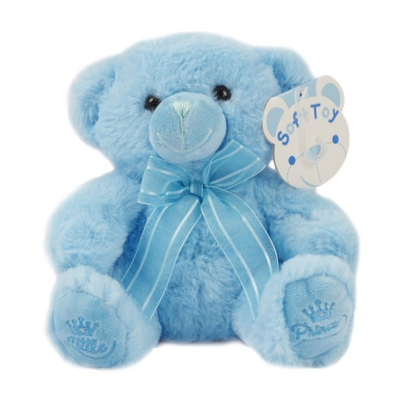 soft touch knuffelbeer little prince 18 cm blauw 338598 1574762272