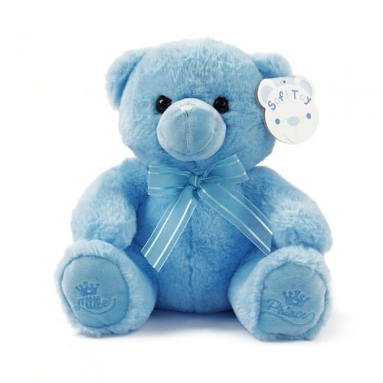 soft touch knuffelbeer little prince 25 cm blauw 338652 1574766484