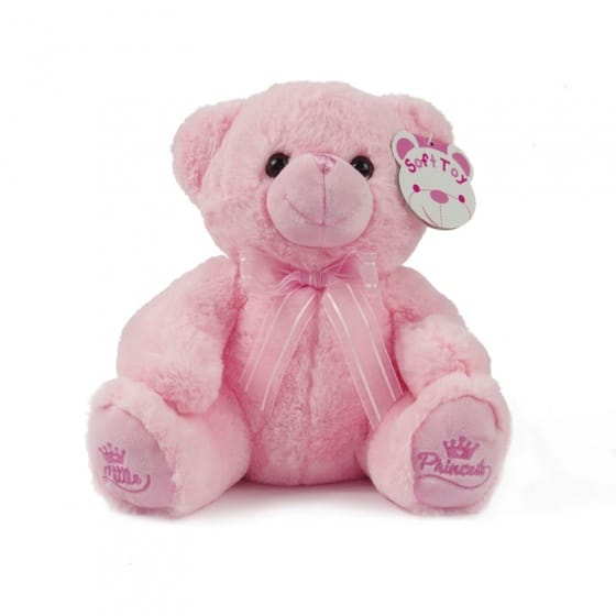 soft touch knuffelbeer little princess 25 cm roze 338654 1574766615