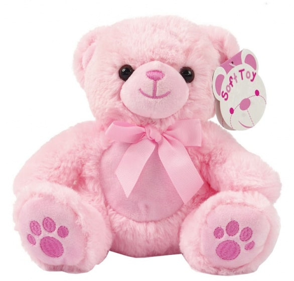 soft touch knuffelbeer paws 20 cm roze 338591 20191126105316