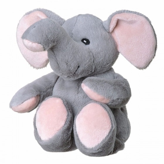 welliebellies opwarmknuffel olifant 20 cm grijs 196391