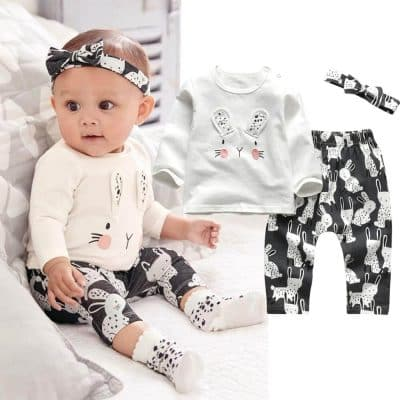 Baby kleding set konijn