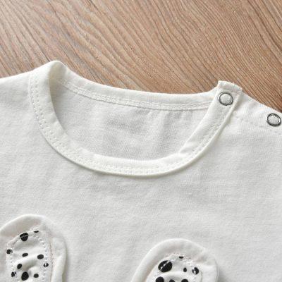2 3Pcs Pasgeboren Baby Meisje Kleding Set Cartoon Konijn Patroon Lange Mouw T shirt Casual Broek Hoofdband 3