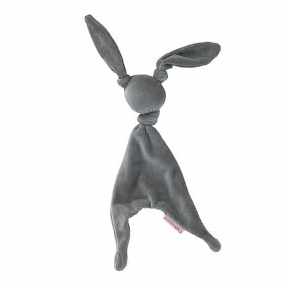 cottonbaby knuffeldoekje rabbit velours 35 cm grijs 348242 1577952545
