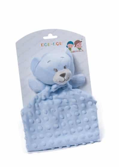 gamberritos knuffeldoekje teddybeer 23 cm blauw 354757 1579599627