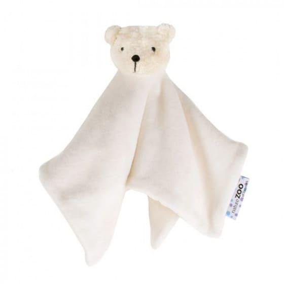 naturezoo knuffeldoekje ijsbeer biologisch 32 cm wit 333596 1573462211
