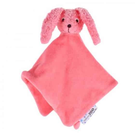 naturezoo knuffeldoekje konijn biologisch 32 cm roze 333593 1573461962
