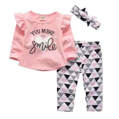 Baby kleding set smile