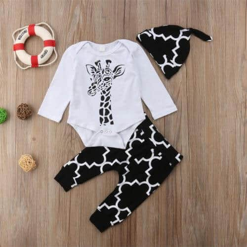 Baby kleding set giraf