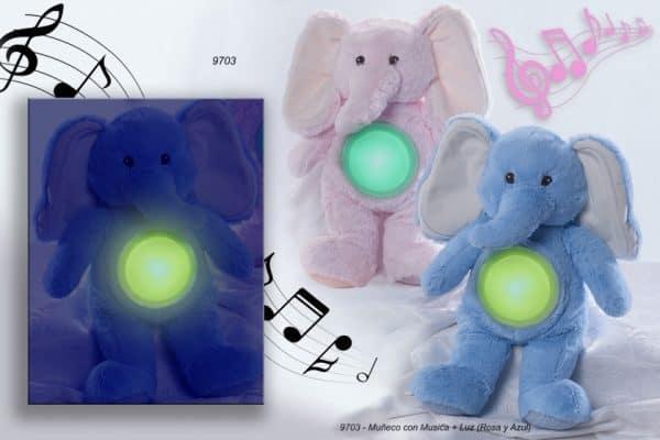gamberritos lichtgevende knuffelolifant 36 cm blauw 2 367431 1583396638